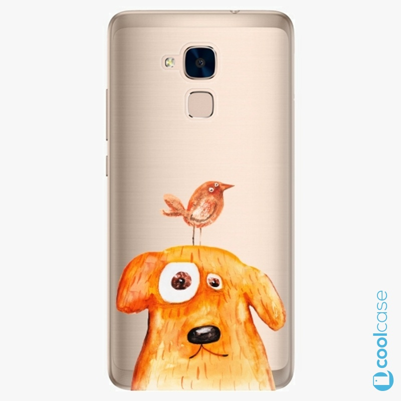 Silikonové pouzdro iSaprio - Dog And Bird na mobil Honor 7 Lite