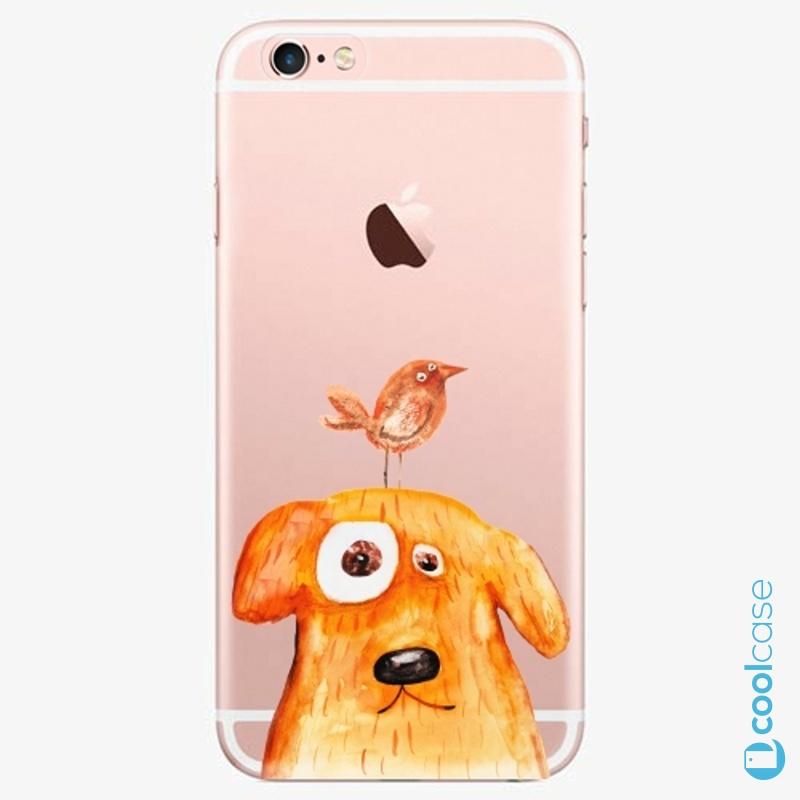 Silikonové pouzdro iSaprio - Dog And Bird na mobil Apple iPhone 6 Plus / 6S Plus