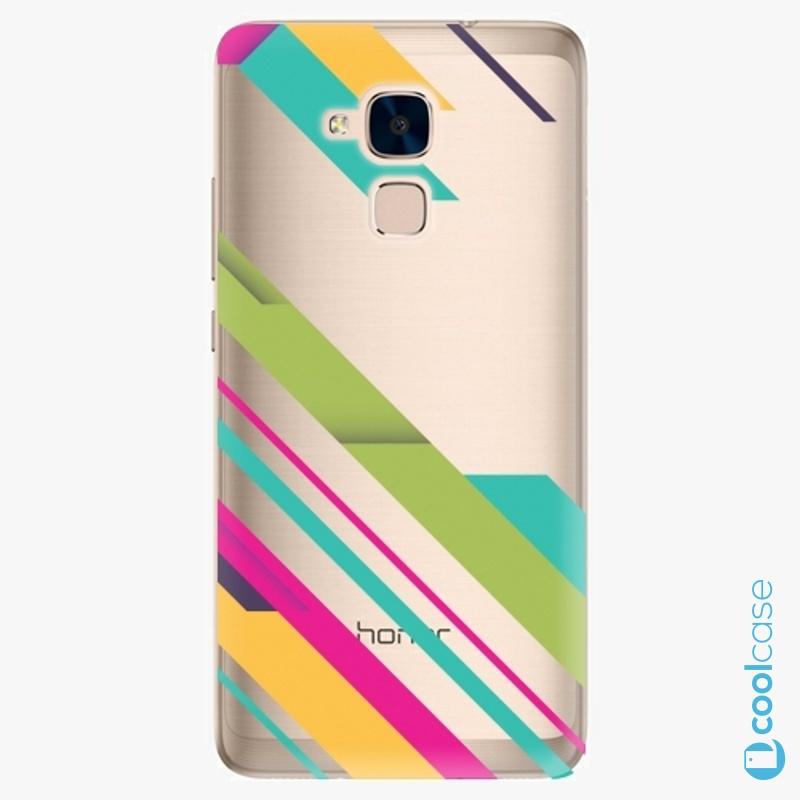 Silikonové pouzdro iSaprio - Color Stripes 03 na mobil Honor 7 Lite