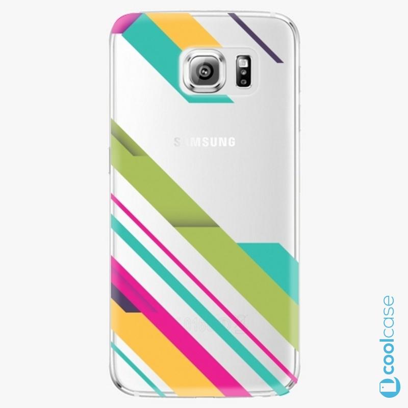 Silikonové pouzdro iSaprio - Color Stripes 03 na mobil Samsung Galaxy S6 Edge