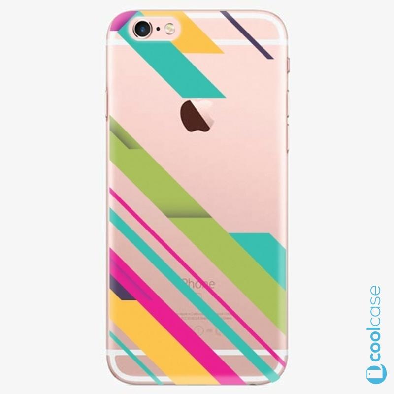 Silikonové pouzdro iSaprio - Color Stripes 03 na mobil Apple iPhone 6 Plus / 6S Plus
