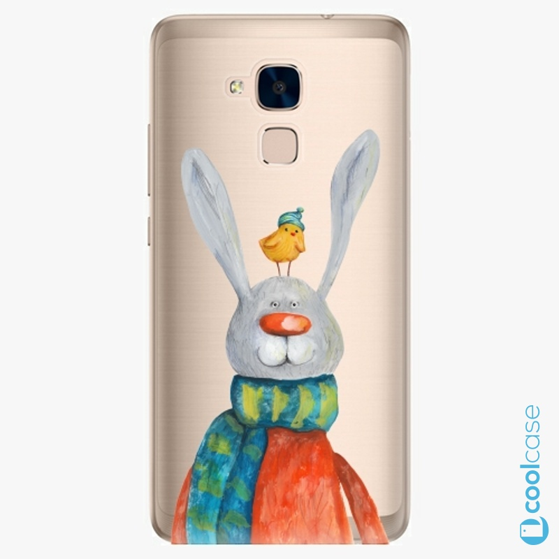 Silikonové pouzdro iSaprio - Rabbit And Bird na mobil Honor 7 Lite