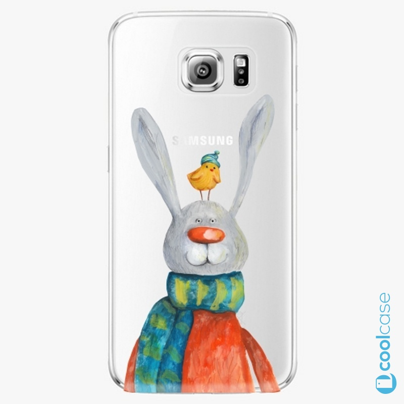 Silikonové pouzdro iSaprio - Rabbit And Bird na mobil Samsung Galaxy S6 Edge