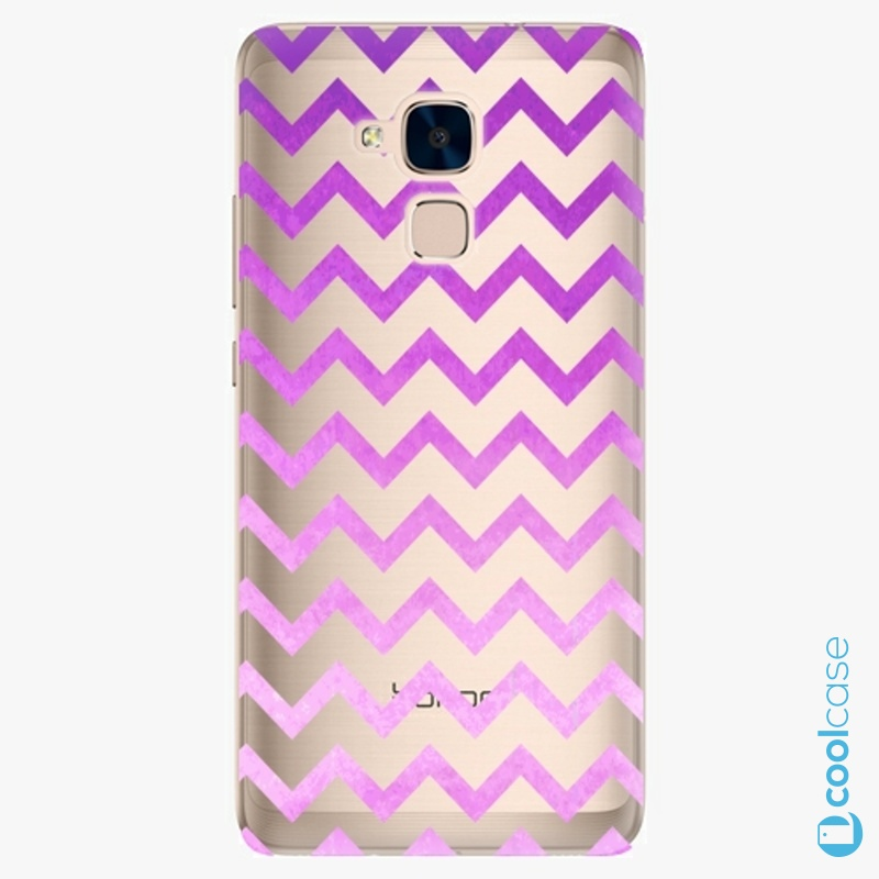 Silikonové pouzdro iSaprio - Zigzag purple na mobil Honor 7 Lite
