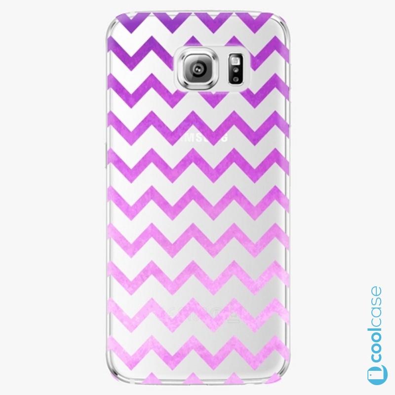 Silikonové pouzdro iSaprio - Zigzag purple na mobil Samsung Galaxy S6 Edge