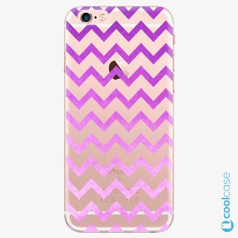 Silikonové pouzdro iSaprio - Zigzag purple na mobil Apple iPhone 6 Plus / 6S Plus