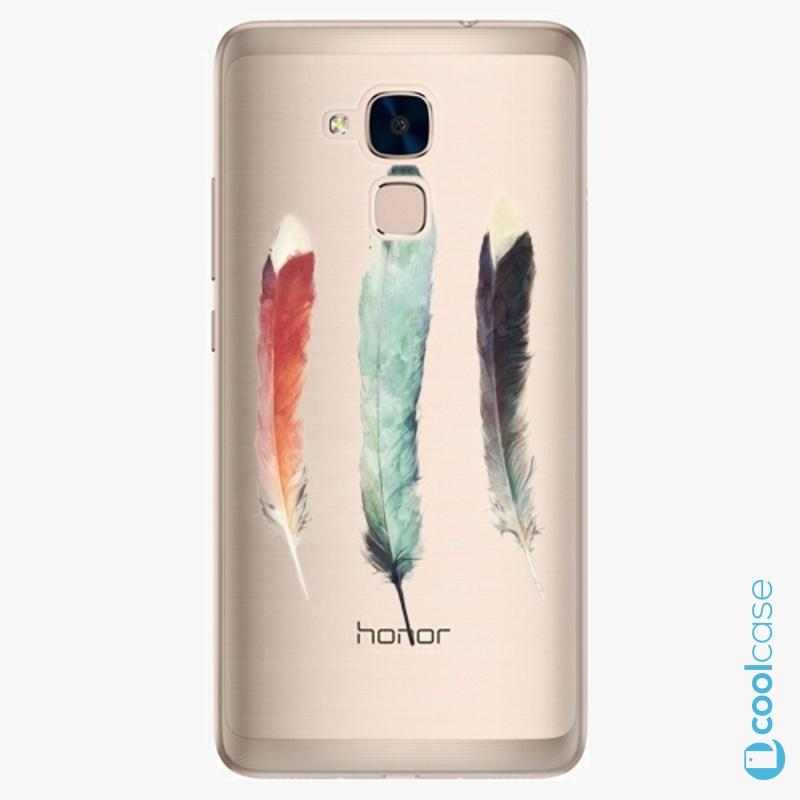 Silikonové pouzdro iSaprio - Three Feathers na mobil Honor 7 Lite