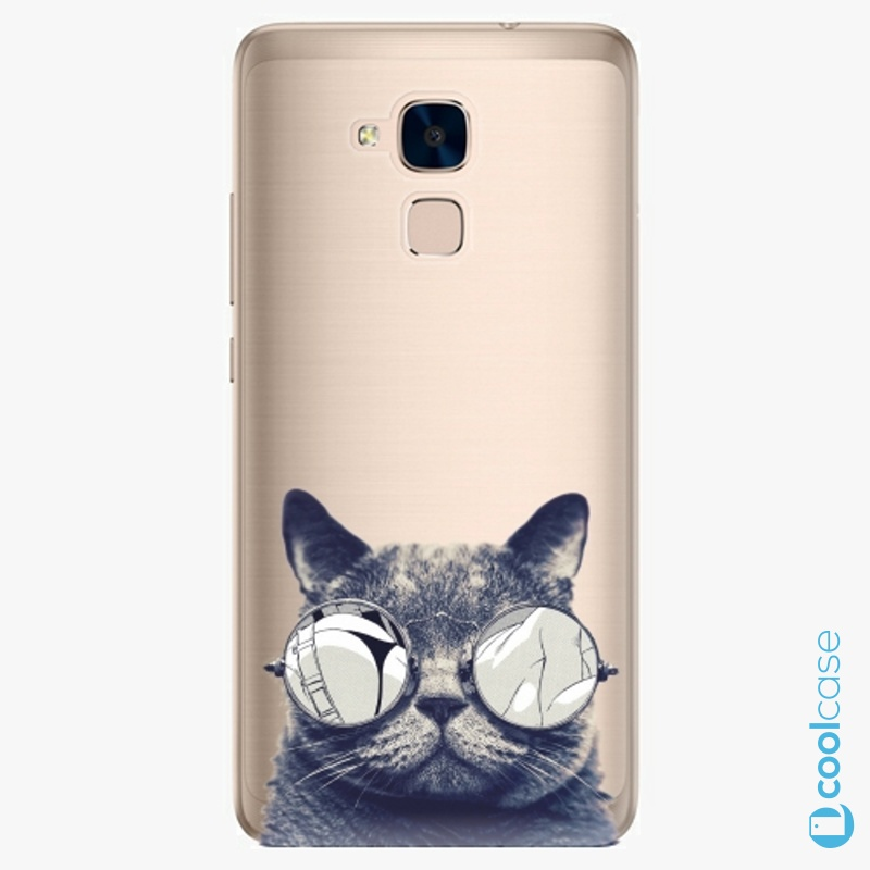 Silikonové pouzdro iSaprio - Crazy Cat 01 na mobil Honor 7 Lite