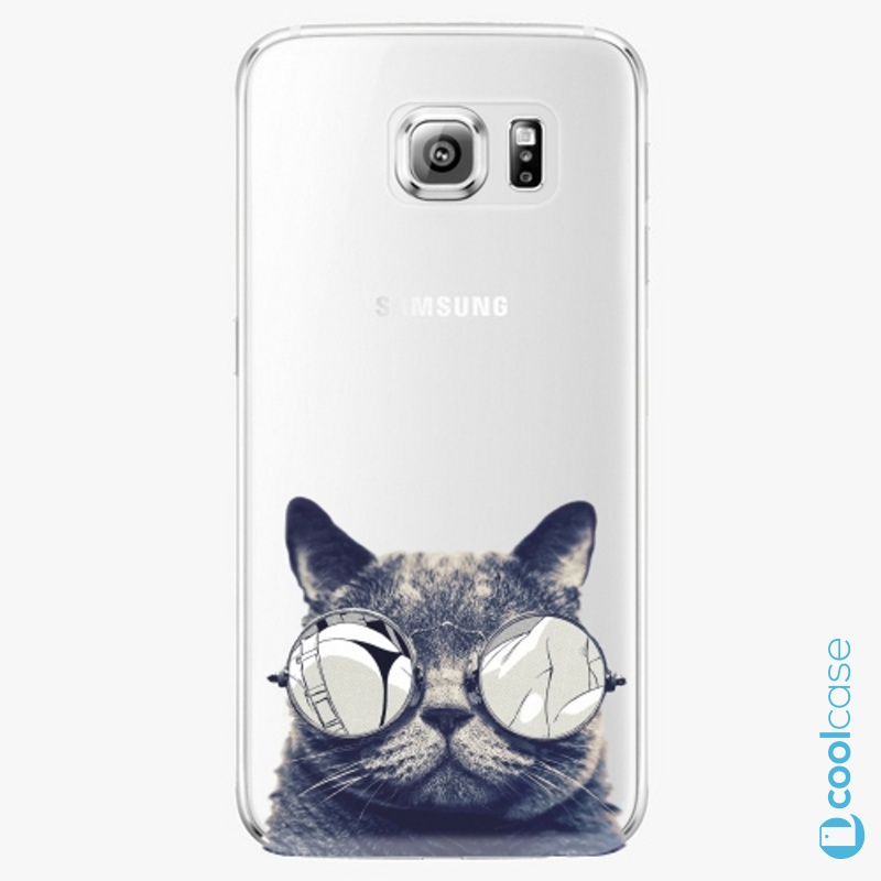 Silikonové pouzdro iSaprio - Crazy Cat 01 na mobil Samsung Galaxy S6