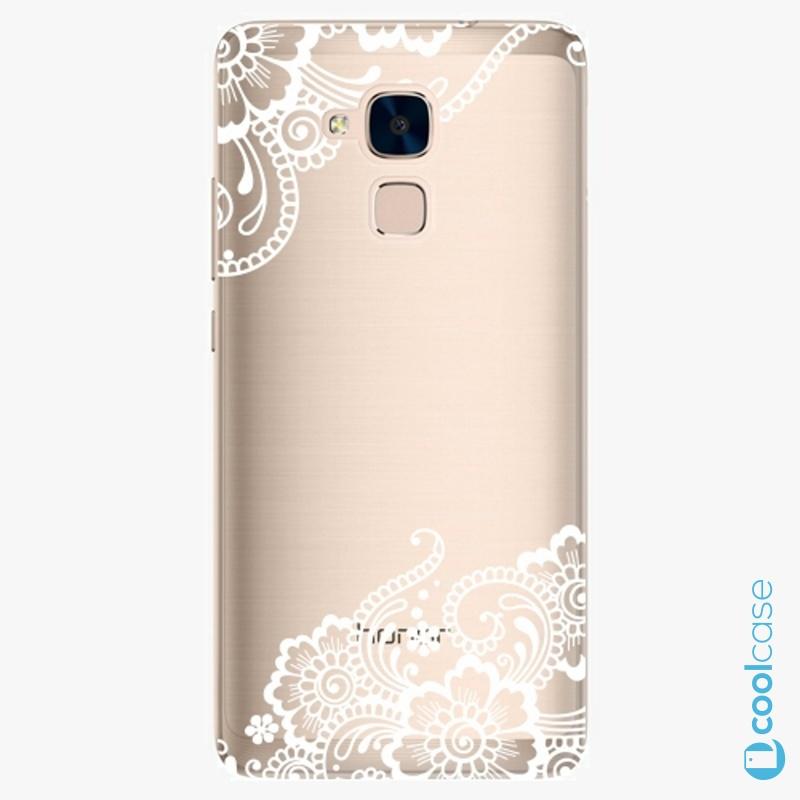 Silikonový obal, pouzdro, kryt iSaprio white Lace 02 na mobil Honor 7 Lite