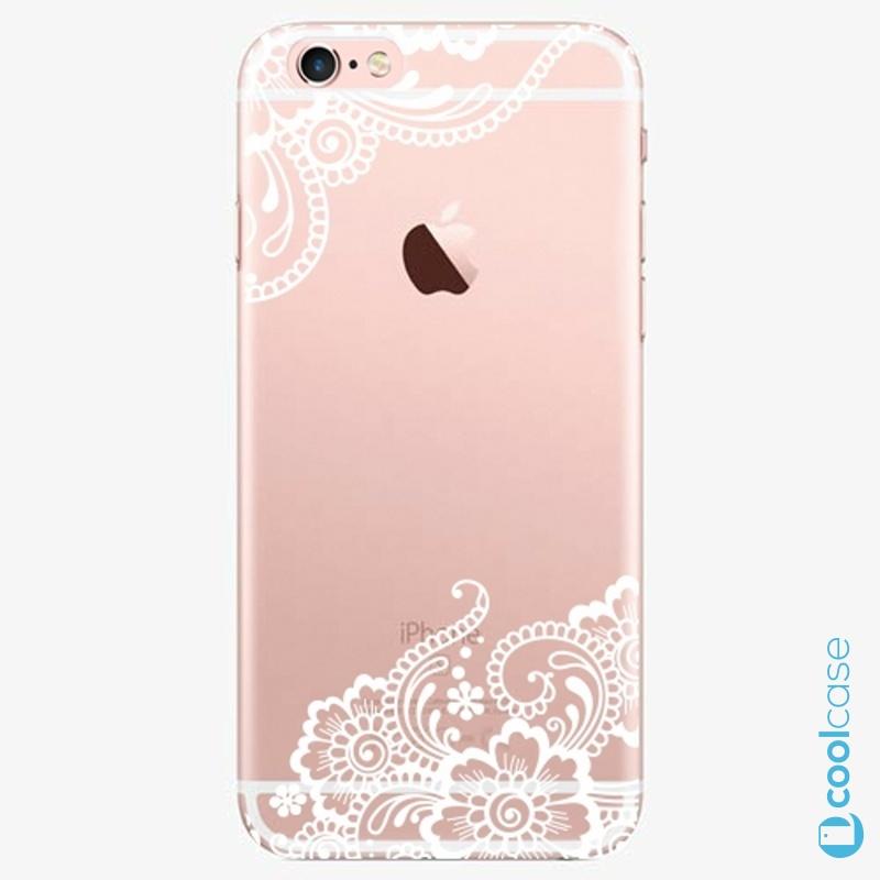 Silikonový obal, pouzdro, kryt iSaprio white Lace 02 na mobil Apple iPhone 6 Plus / 6S Plus