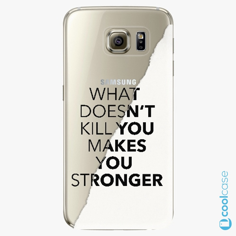 Silikonové pouzdro iSaprio - Makes You Stronger na mobil Samsung Galaxy S6 Edge