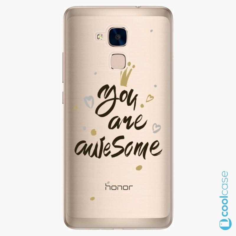 Silikonové pouzdro iSaprio - You Are Awesome black na mobil Honor 7 Lite