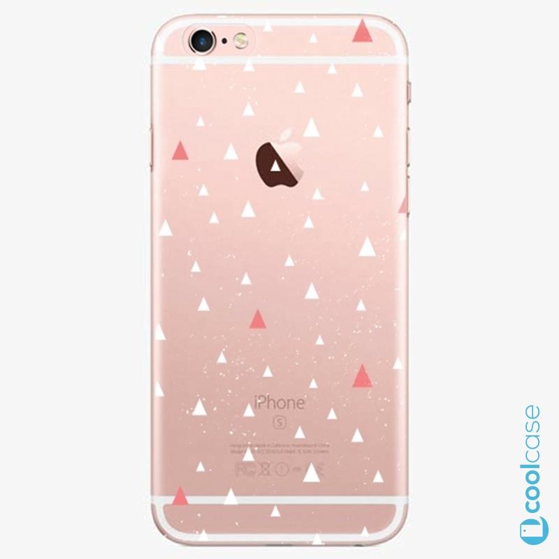 Silikonové pouzdro iSaprio - Abstract Triangles 02 white na mobil Apple iPhone 6 Plus / 6S Plus
