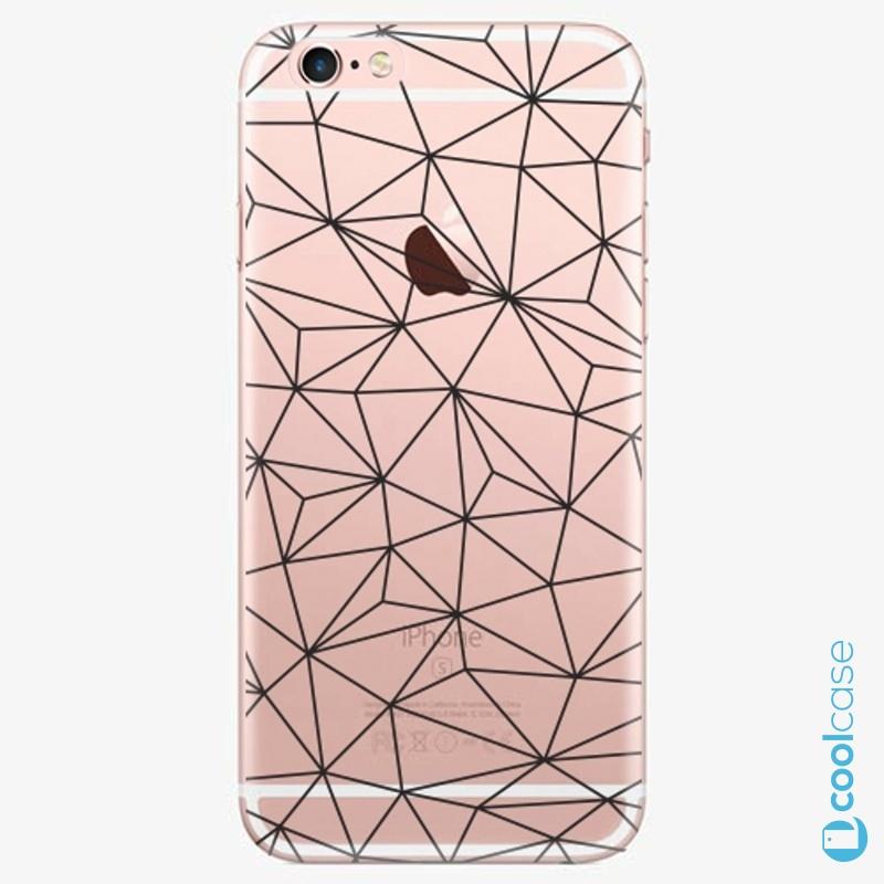 Silikonové pouzdro iSaprio - Abstract Triangles 03 black na mobil Apple iPhone 6 Plus / 6S Plus