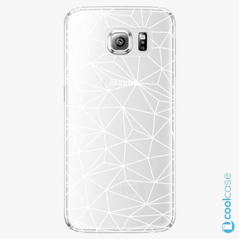 Silikonové pouzdro iSaprio - Abstract Triangles 03 white na mobil Samsung Galaxy S6