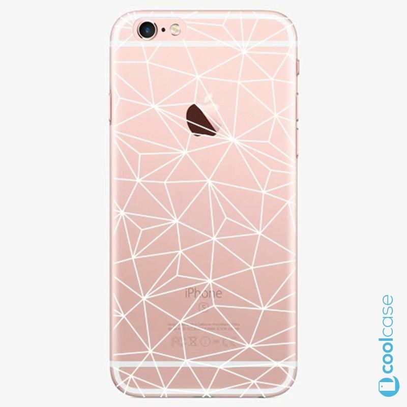 Silikonové pouzdro iSaprio - Abstract Triangles 03 white na mobil Apple iPhone 6 Plus / 6S Plus