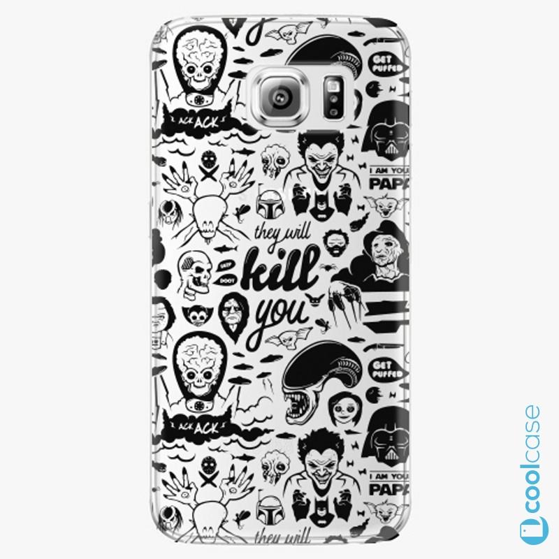 Silikonové pouzdro iSaprio - Comics 01 black na mobil Samsung Galaxy S6