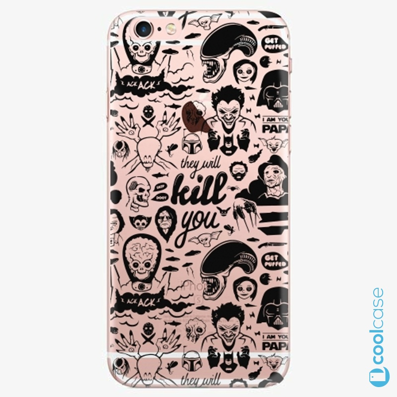 Silikonové pouzdro iSaprio - Comics 01 black na mobil Apple iPhone 6 Plus / 6S Plus