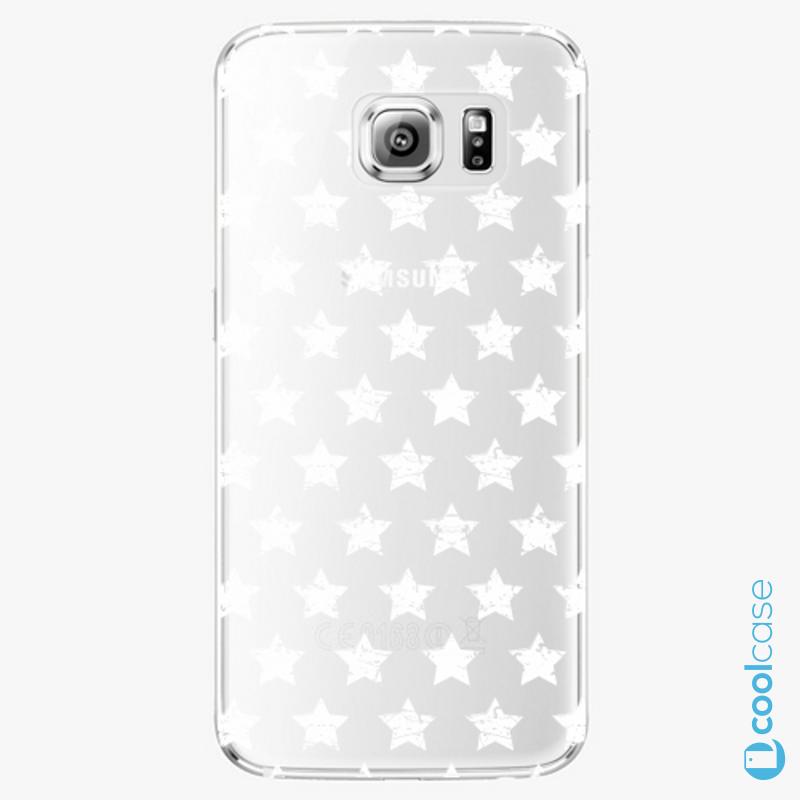 Silikonové pouzdro iSaprio - Stars Pattern white na mobil Samsung Galaxy S6 Edge