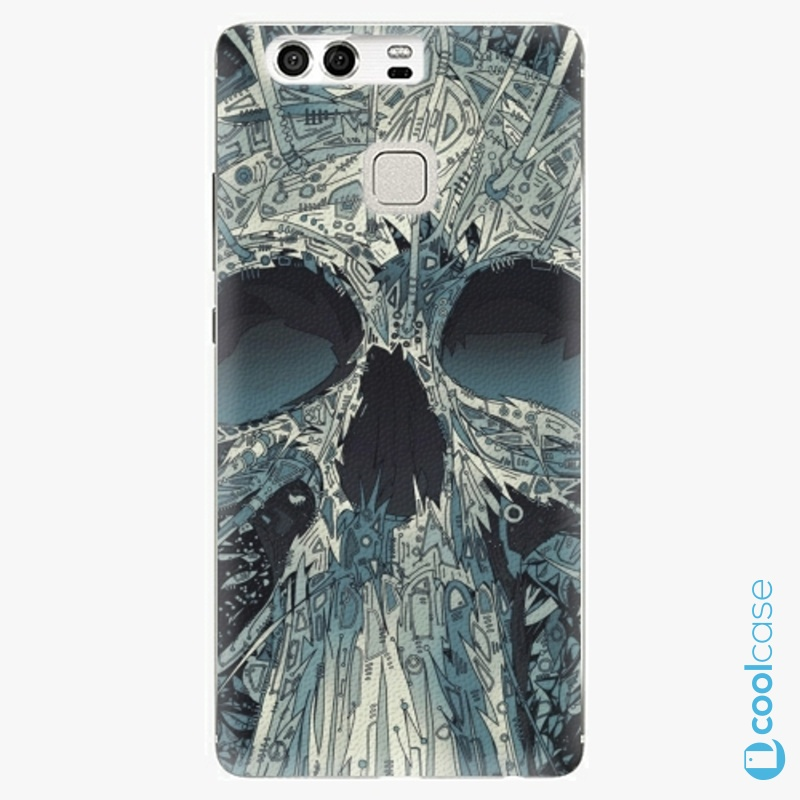 Silikonové pouzdro iSaprio - Abstract Skull na mobil Huawei P9
