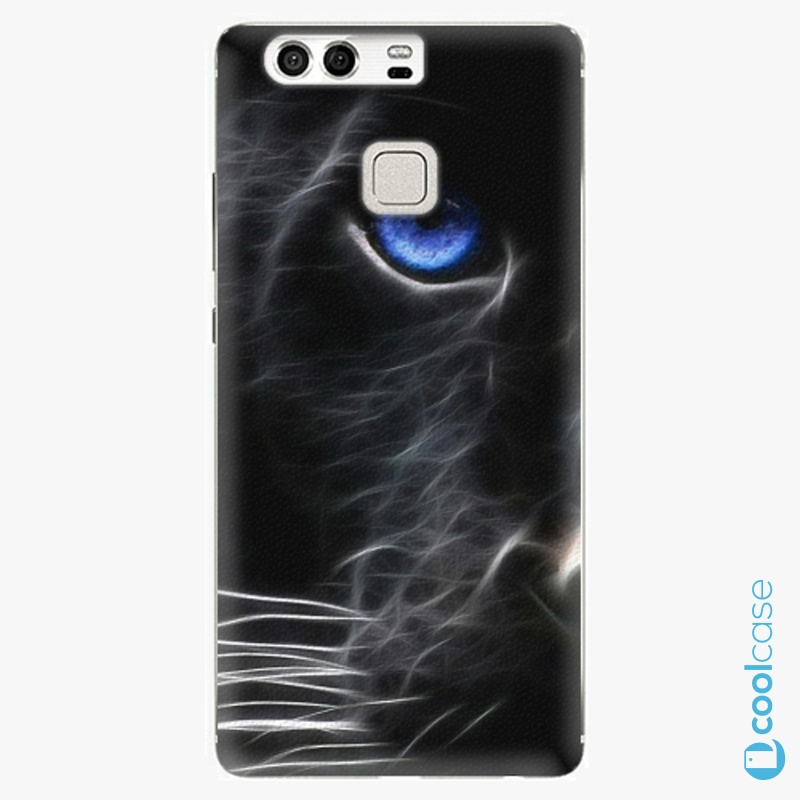 Silikonový obal, pouzdro, kryt iSaprio black Puma na mobil Huawei P9