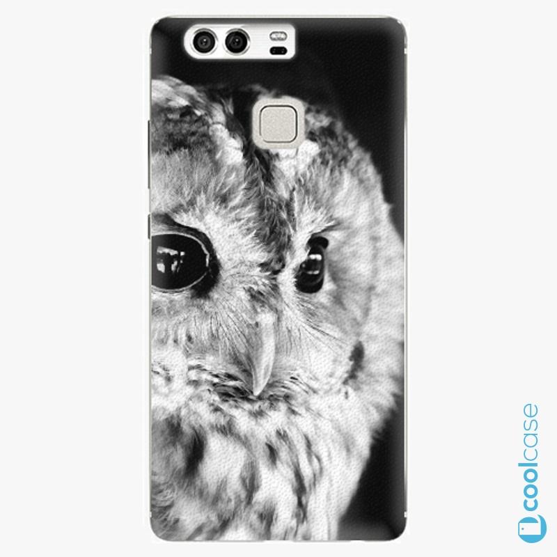 Silikonové pouzdro iSaprio - BW Owl na mobil Huawei P9