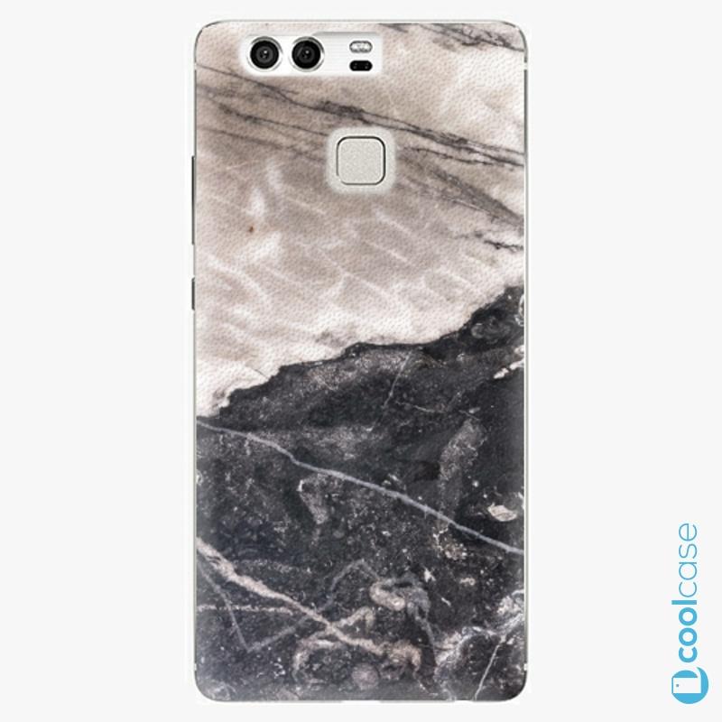 Silikonové pouzdro iSaprio - BW Marble na mobil Huawei P9