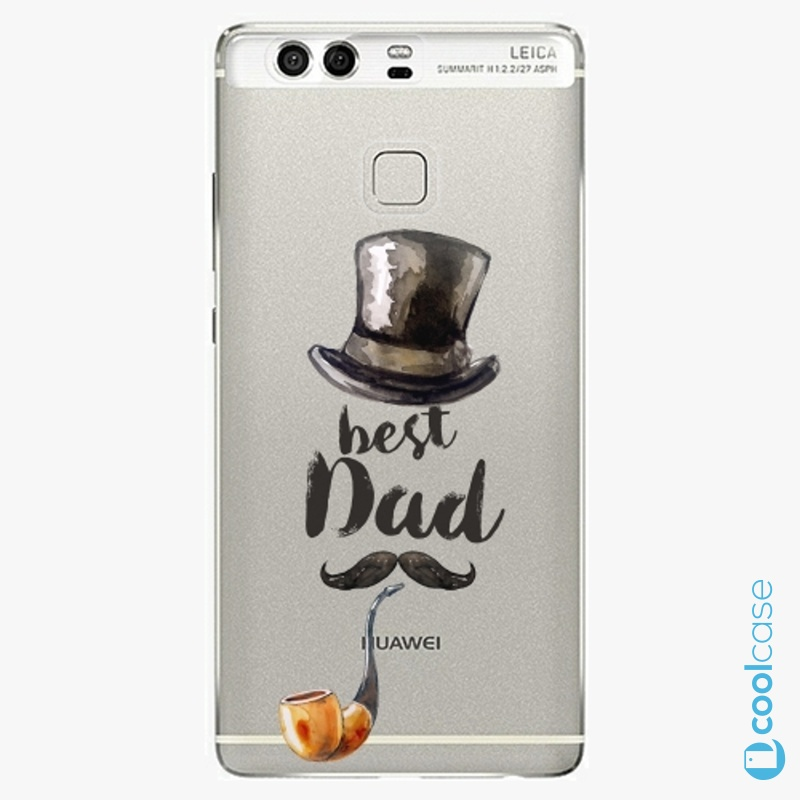 Silikonové pouzdro iSaprio - Best Dad na mobil Huawei P9