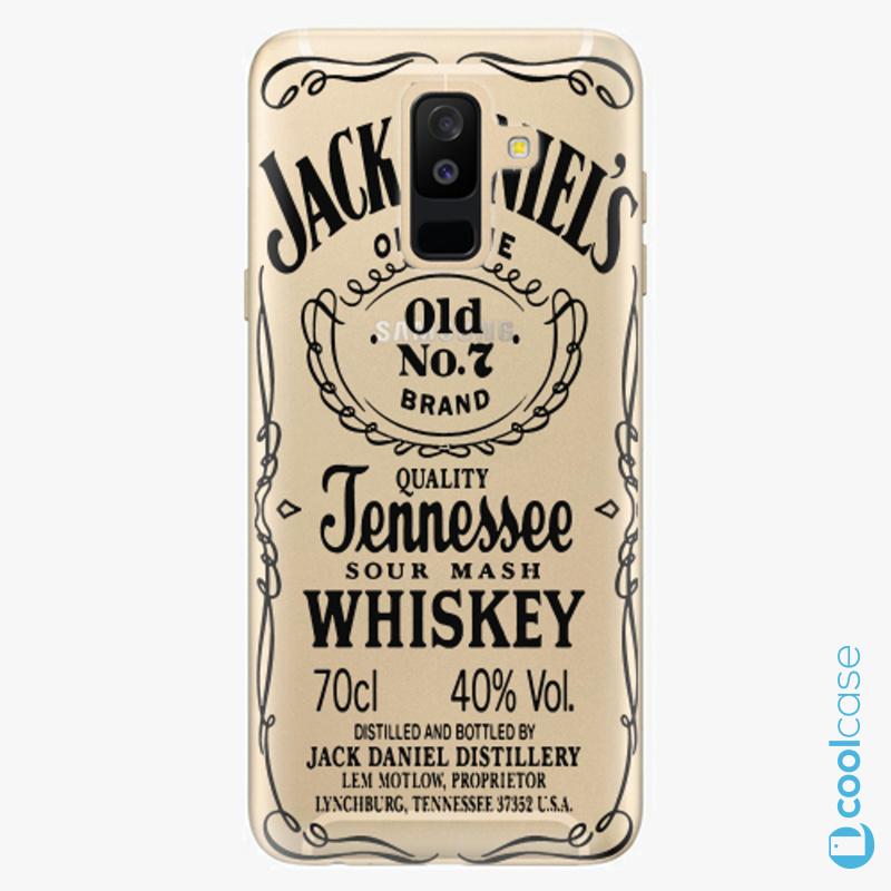 Silikonové pouzdro iSaprio - Transparent Black Jack na mobil Samsung Galaxy A6 Plus