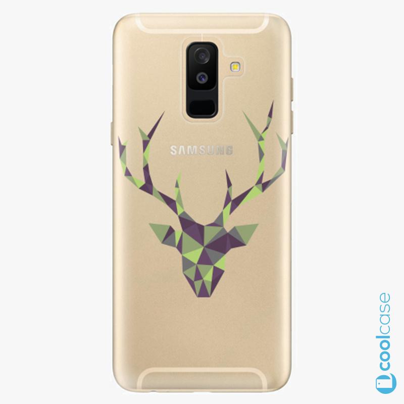 Silikonové pouzdro iSaprio - Deer Green na mobil Samsung Galaxy A6 Plus