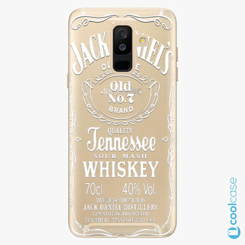 Silikonové pouzdro iSaprio - Transparent White Jack na mobil Samsung Galaxy A6 Plus
