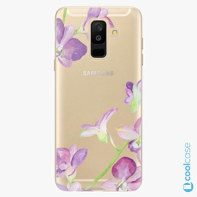 Silikonový obal, pouzdro, kryt iSaprio purple Orchid na mobil Samsung Galaxy A6 Plus