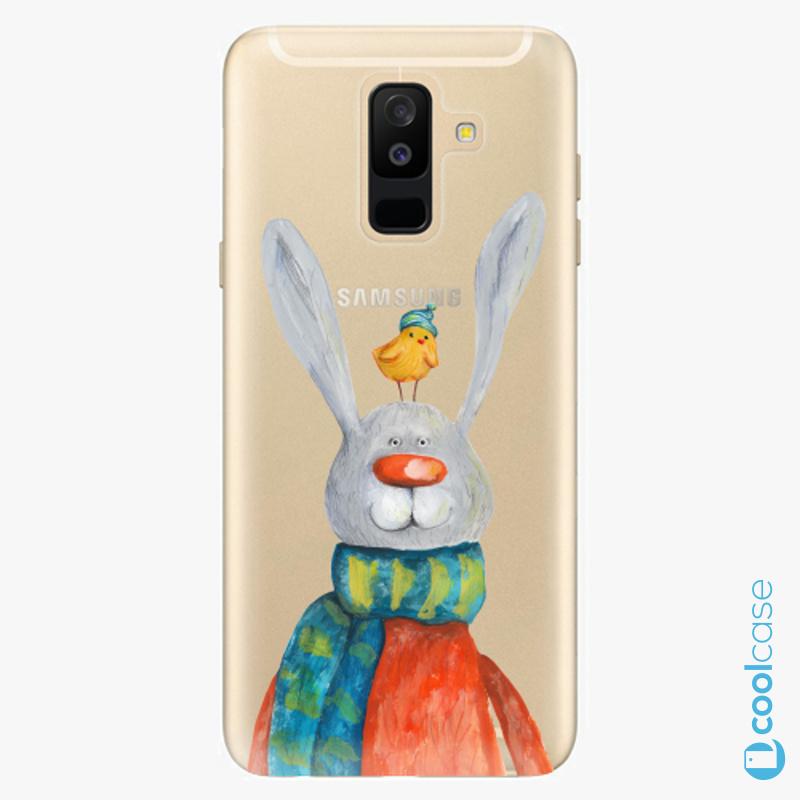 Silikonové pouzdro iSaprio - Rabbit And Bird na mobil Samsung Galaxy A6 Plus