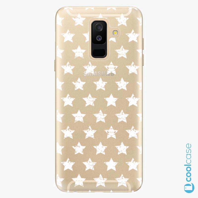 Silikonové pouzdro iSaprio - Stars Pattern white na mobil Samsung Galaxy A6 Plus