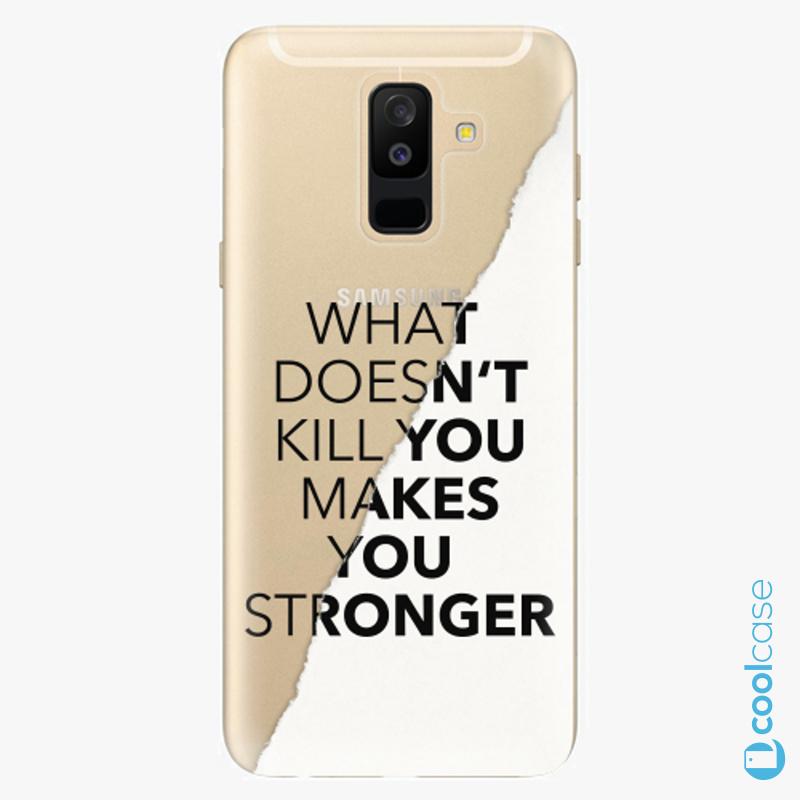 Silikonové pouzdro iSaprio - Makes You Stronger na mobil Samsung Galaxy A6 Plus