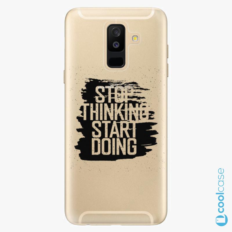 Silikonové pouzdro iSaprio - Start Doing black na mobil Samsung Galaxy A6 Plus