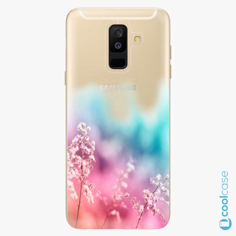 Silikonové pouzdro iSaprio - Rainbow Grass na mobil Samsung Galaxy A6 Plus