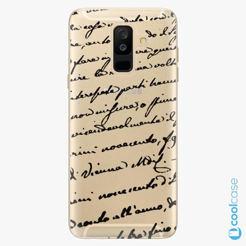 Silikonové pouzdro iSaprio - Handwriting 01 black na mobil Samsung Galaxy A6 Plus