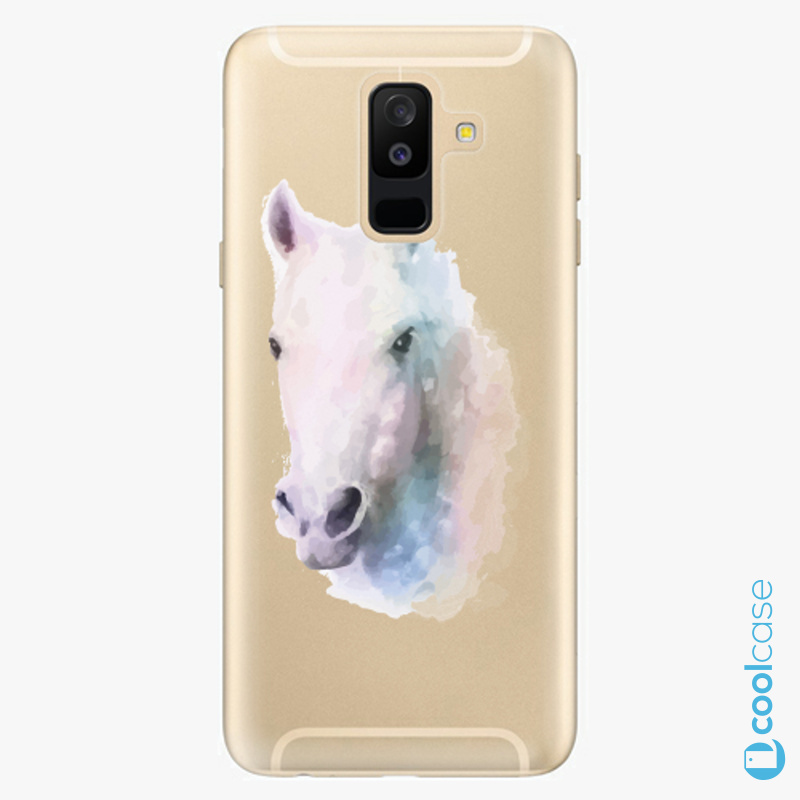 Silikonové pouzdro iSaprio - Horse 01 na mobil Samsung Galaxy A6 Plus