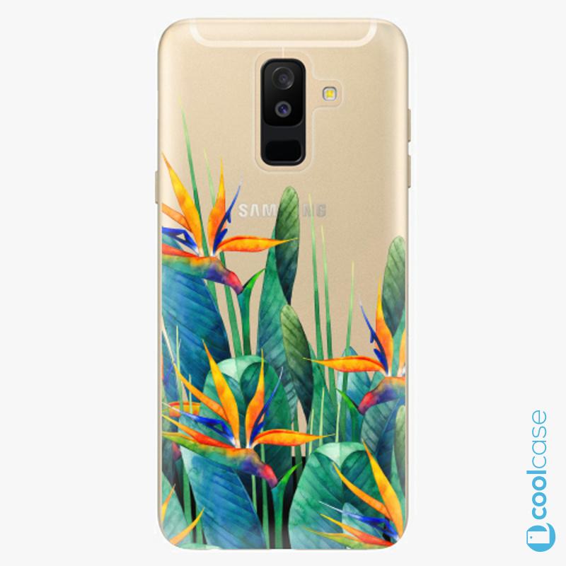 Silikonové pouzdro iSaprio - Exotic Flowers na mobil Samsung Galaxy A6 Plus