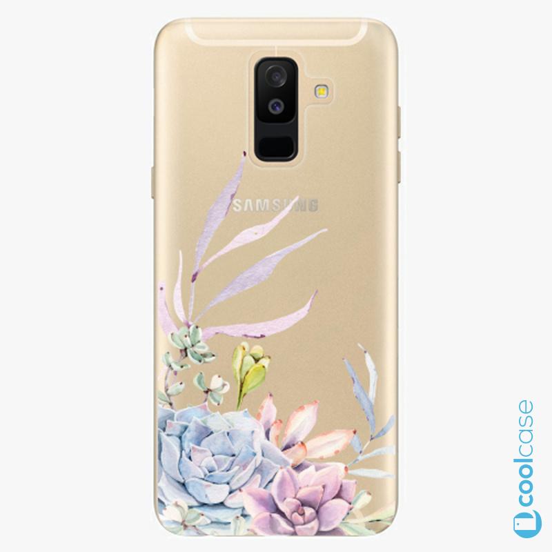 Silikonové pouzdro iSaprio - Succulent 01 na mobil Samsung Galaxy A6 Plus