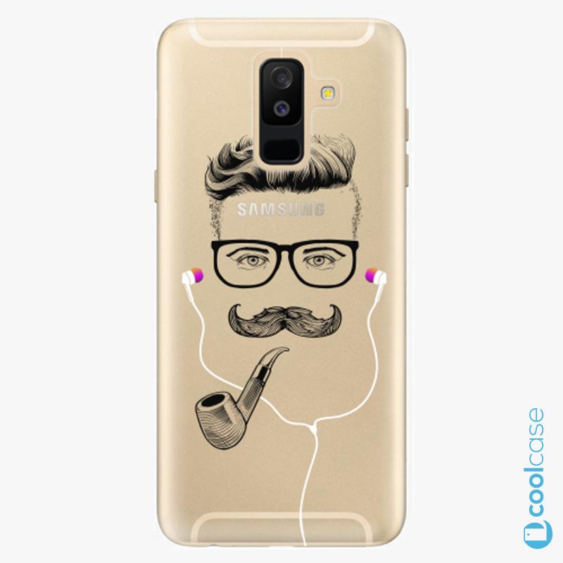 Silikonové pouzdro iSaprio - Man With Headphones 01 na mobil Samsung Galaxy A6 Plus