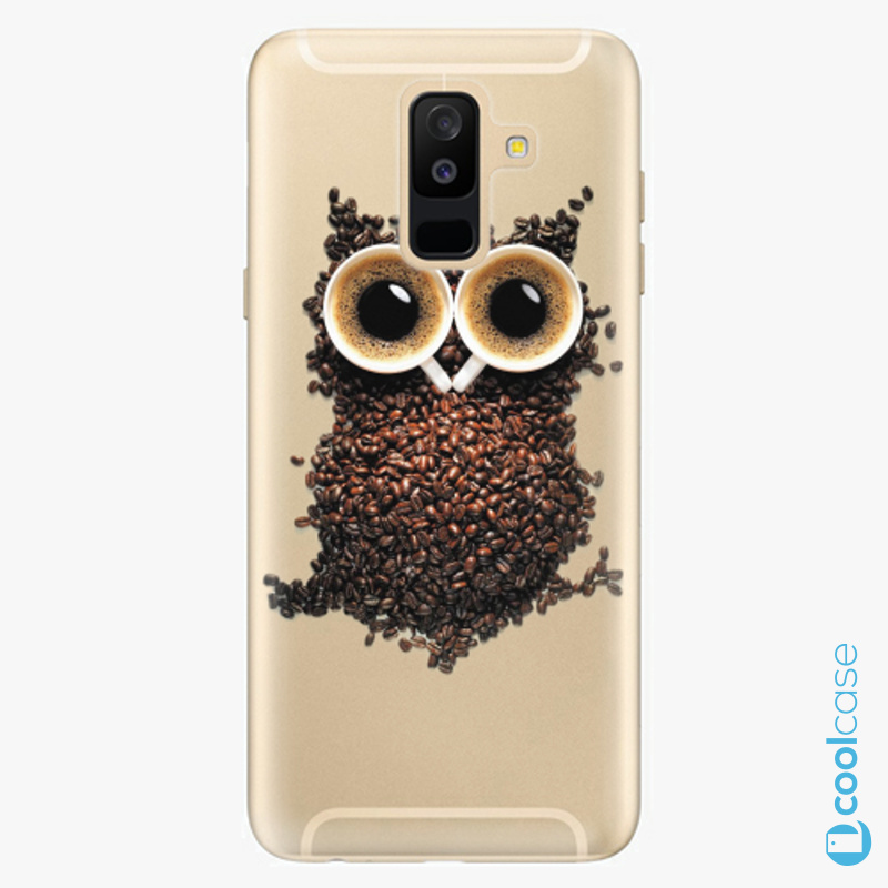 Silikonové pouzdro iSaprio - Owl And Coffee na mobil Samsung Galaxy A6 Plus