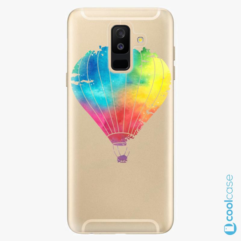 Silikonové pouzdro iSaprio - Flying Baloon 01 na mobil Samsung Galaxy A6 Plus