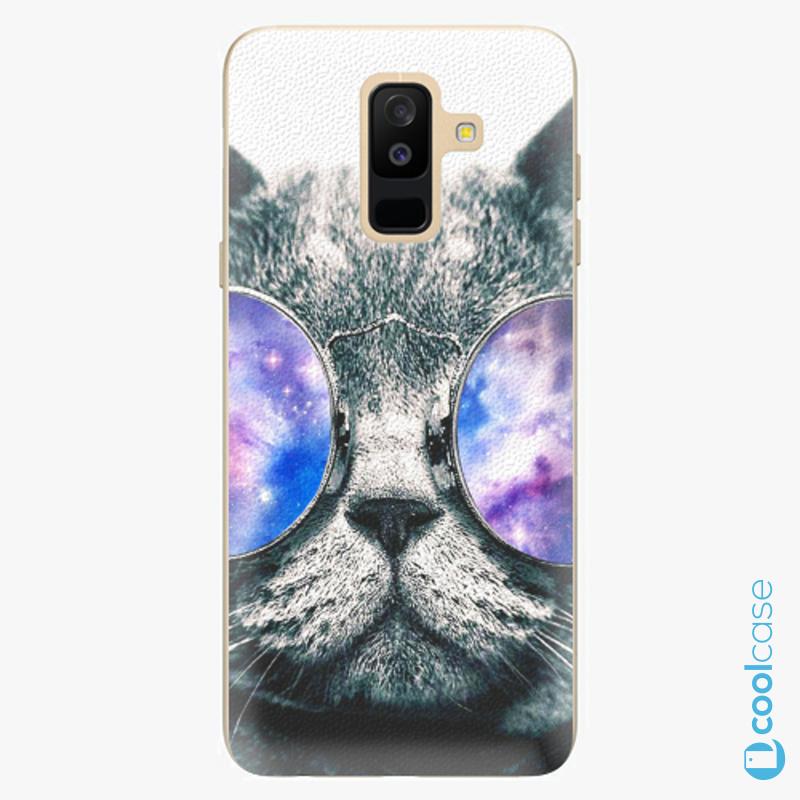 Silikonové pouzdro iSaprio - Galaxy Cat na mobil Samsung Galaxy A6 Plus