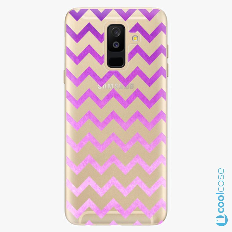 Silikonové pouzdro iSaprio - Zigzag purple na mobil Samsung Galaxy A6 Plus