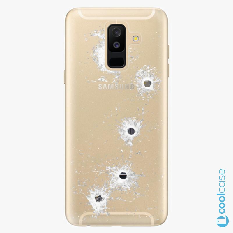 Silikonové pouzdro iSaprio - Gunshots na mobil Samsung Galaxy A6 Plus
