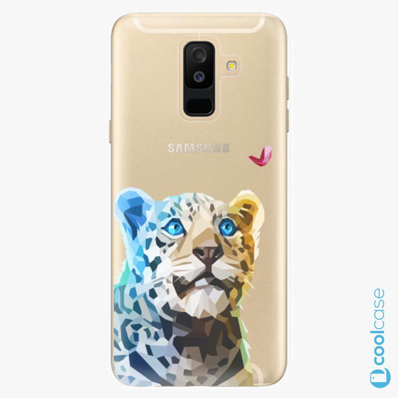 Silikonové pouzdro iSaprio - Leopard With Butterfly na mobil Samsung Galaxy A6 Plus