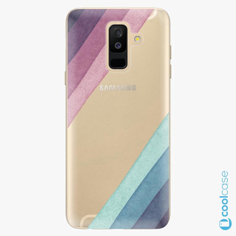Silikonové pouzdro iSaprio - Glitter Stripes 01 na mobil Samsung Galaxy A6 Plus